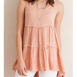 Tops - Gorgeous Coral Sleeveless Top